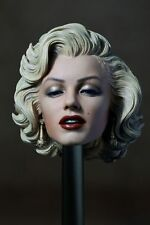 "1/6 Blondes Hair 1953 Marilyn Monroe Head Carving Fit 12"" Female Action Figure"