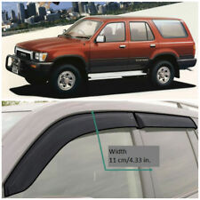 Wide Window Visors Side Guard Vent Deflectors For Toyota Hilux Surf 5d 1989-1995