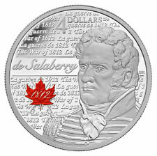 2013 Canada $4 Fine Silver Coin - Heroes of 1812 - Charles-Michel De Salaberry