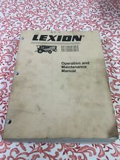 Caterpillar Challenger LEXION 590 580 570 560 Combine Operator Owner Manual book