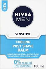 Nivea Men Sensitive Cooling Aftershave Balm, 0% Alcohol Skin Care, 100 ml -3pack