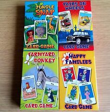 4x NEW - CARD GAME SETS - Donkey Happy Families Snap Pairs - Childrens Cards x 4