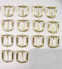Leather Craft Buckles #12 Belt Buckle Solid Brass 1 Inch Size Id#012-Sb-1 Qty 14