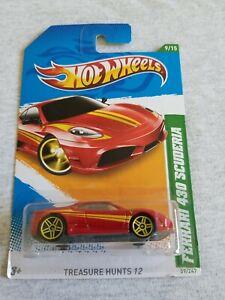 2012 Hot Wheels FERRARI 430 SCUDERIA Red 59/247 LITTLE BENDS International HUNT