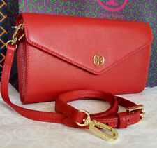 NWT TORY BURCH LANDON EXPANDABLE CONCIERGE WALLET CROSSBODY CLUTCH ENVELOPE RED