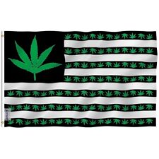 Anley 420 Marijuana American Flag Legalize Weed Banner Polyester 3x5 Foot Flags