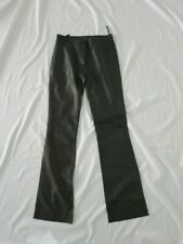 GIANNI VERSACE black leather pants size 38 US 0