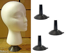 Mannequin Head Table top suction base wig-makeup head holder (3-holders)