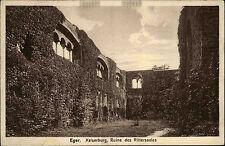 Eger Cheb Tschechien s/w AK 1932 Kaiserburg Partie in der Ruine des Rittersaales
