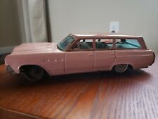 Vintage Tin Bandai Buick Estate Wagon Friction Made In Japan Tin Toy Lot