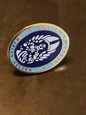 Tone Blue & White Pin Choir of Angels Marian Helper Gold