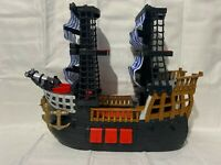 2006 Mattel Fisher-Price Imaginext Black and Red Pirate Ship R8250 Retired