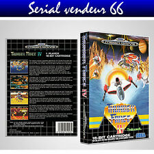 "BOX, CASE ""THUNDER FORCE 4"". MEGADRIVE. BOX + COVER PRINTED.NO GAME.MULTILINGUAL"