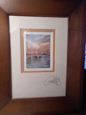 """Philip Gray signed print.""""Skyline Dublin"""". Framed and double matted.  Nice!"""