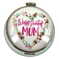 'MUM' White Trinket Box with Wording (5.5cms dia x 3cms high) - AU Seller
