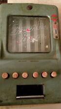 Vintage 1 Cent Penny Gum Vending Machine has No Key - Original Green Paint