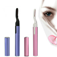 Portable Electric Heated Eyelash Curler Pen Long Lasting Eye lashes Makeup