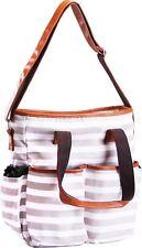 Trendy Stripe Diaper Bag Secure Zippers Baby Tote Bag Utopia Home
