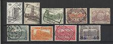 BELGIQUE  9 Timbres colis postaux anciens oblitérés /T1178
