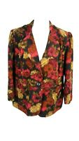 Notations Woman's Sz 2X Multi Color Faux Suede Jacket S4