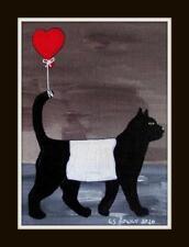 More details for galloway cat valentine b original scottish impressionist oil painting ls rowly