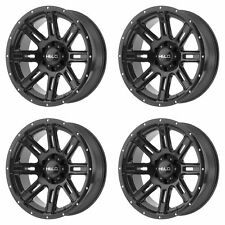 "4x Helo 18x9 HE900 Wheels Gloss Black 6x120 PCD +0mm Offset 5.00""BS"