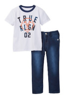 True Religion Baby Boys Jeans Shirt Set Buddha Tee Outfit Baby Toddler 2 2T NWT