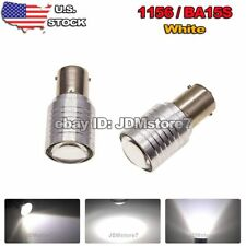 2x White 1156 BA15S High Power Projector Lens LED Reverse Backup Light Tail Bulb