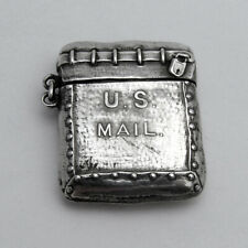 US Mail Bag Form Stamp Case Wallace Sterling Silver 1900