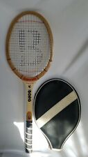 "Vintage Bancroft Monte Carlo Borg Wood Wooden Bamboo Tennis Racquet 4 3/8"" Grip"