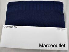 Calvin Klein Modern Cotton Steve Ribbed King Duvet Cover Navy Blue