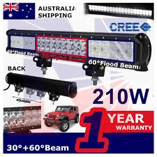 20inch 210W Cree Led Light Bar Truck ATV SUV Jeep 4X4wd Offroad Spot Flood light