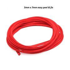 2M Car Door Edge Guard Protector RED U Profile Roll Moulding Trim Strip UK