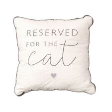 NEW Reserved For The Cat 11'' Filled Cushion Embroidered Pillow Novelty Pet Gift