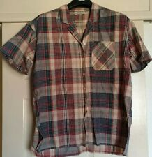 Ladies Vintage Blouse Galapagos brand size M Checked Pattern Multicolour Cotton