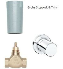 "Grohe Concealed Stop Valve 1/2"" 29811 & Grohtherm 3000 Cosmopolitan Trim 19470"