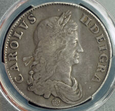 1662, Great Britain, Charles II. Beautiful Large Silver Crown Coin. PCGS VF-35!