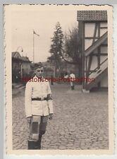 (F11214) Orig. Foto Wehrmacht-Soldat im RAD-Lager Wolfshagen b. Kassel, 1940
