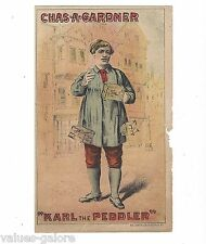 Karl the Peddler Starring Chas. A Gardner Dialect Comedian Hand Bill  Trade Card