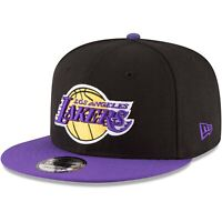 Los Angeles Lakers New Era 9Fifty Basic Black 2 Tone Adjustable Snapback Hat Cap