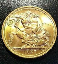 INGHILTERRA STERLINA  ELISABETTA II  FIOCCHETTO 1957 ORO GOLD OR SOVEREIGN RARE