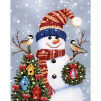 5D Full Drill Diamond Painting Embroidery Cross Stitch Kits Snowman Decoration