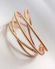 UNIQUE Artisanal Urban Anthropologie Rose Gold Metal Crossover Cuff Bracelet