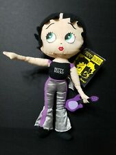 """2009 Kellytoy Rockstar Betty Boop plush doll  11"""" tall, Used with tags"""