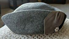 Vintage Women's Neumann Endler Electa Hat: Gray 100% Wool