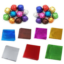 100X Square Aluminum Foil Wrappers for Chocolate Sweets Candy Confectionery 10cm
