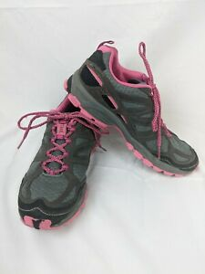 Women's Pacific Trail Hiking Sneakers, Size 8.5, Gray And Pink