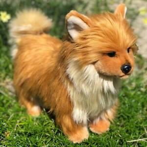 Auswella Plush Pomeranian Puppy Kibbles- Plush Stuffed Animal Puppy Dog
