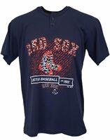 Boston Red Sox Navy 2 Button Scrape the Wall T-Shirt, Men's MLB Majestic