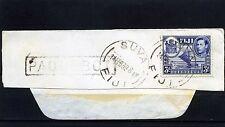 Fiji, frag cover ''Matson Line -Oceanic Line'' cancel Suva Feb 1939